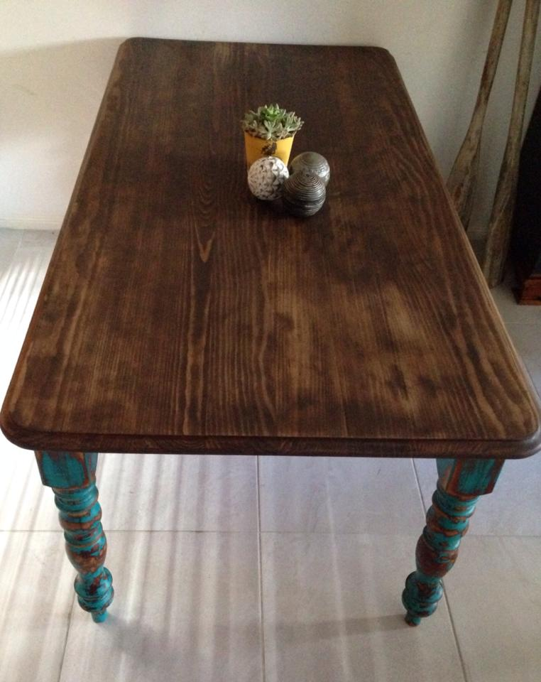 Rustic Table Distressed Jade Dining